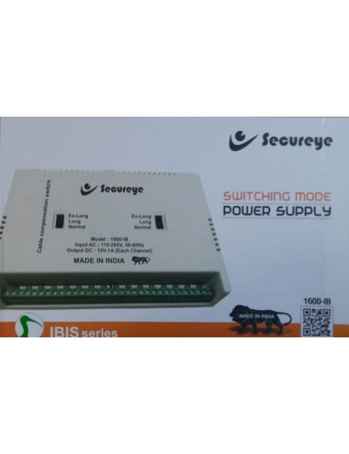 SECUREYE POWER SUPPLY 16CH FIBER