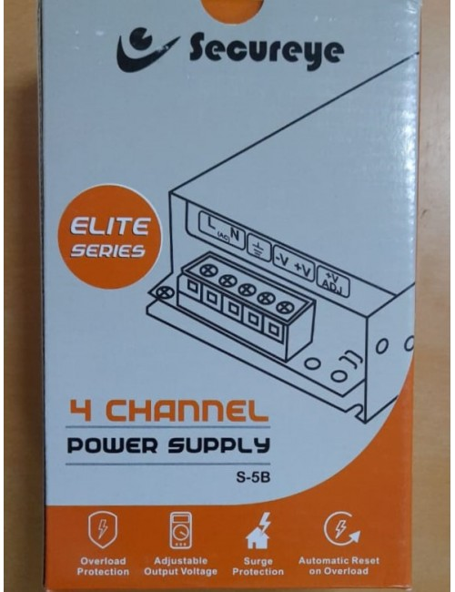SECUREYE POWER SUPPLY 4CH STEEL