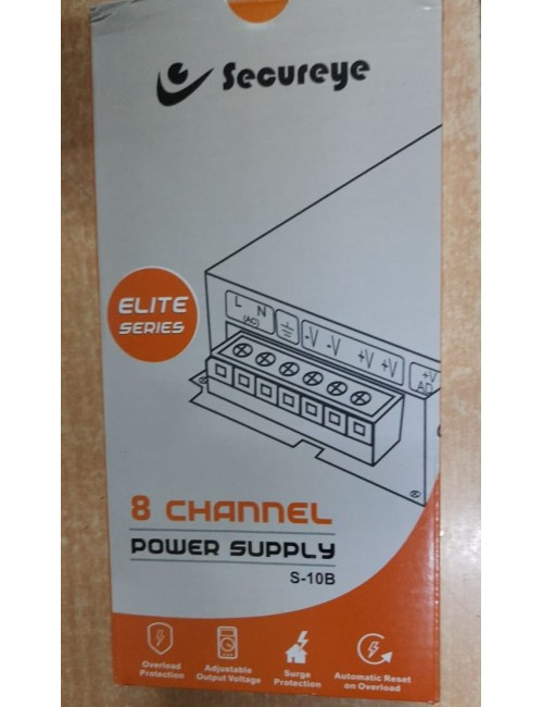SECUREYE POWER SUPPLY 8CH STEEL