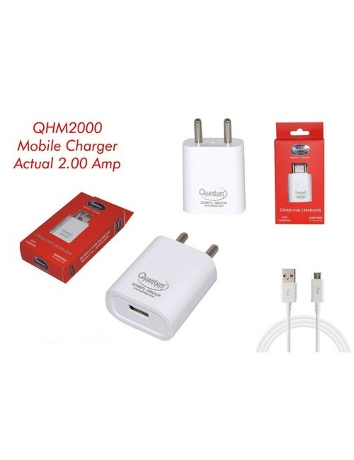 QUANTUM MOBILE CHARGER 2AMP WITH CABLE