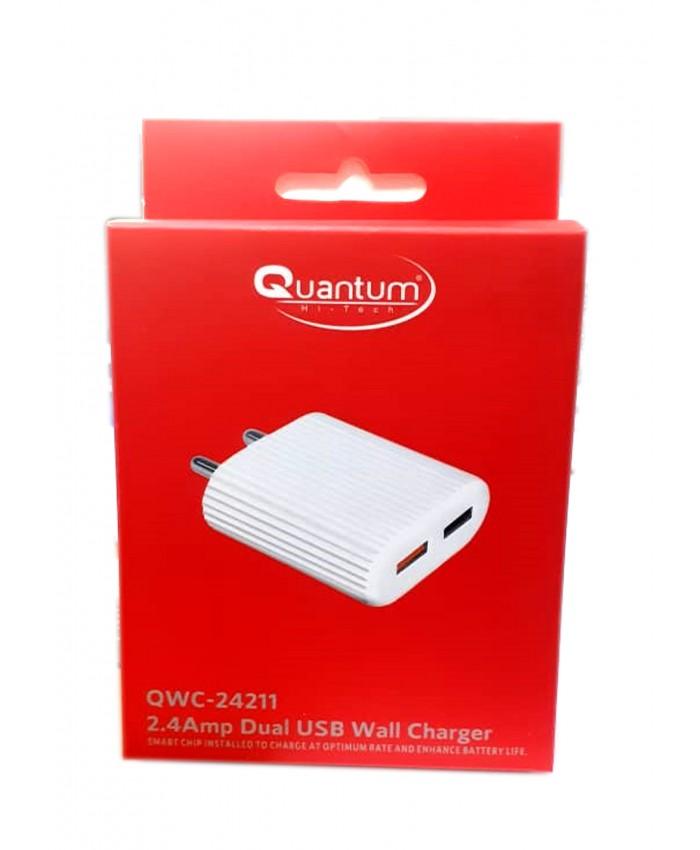 QUANTUM MOBILE CHARGER USB 2 PORT QWC-24211