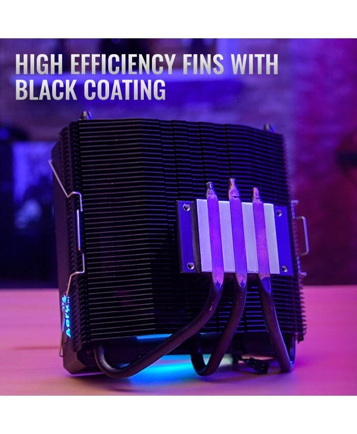 AEROCOOL CPU FAN RGB AIR COOLER (CYLON3)