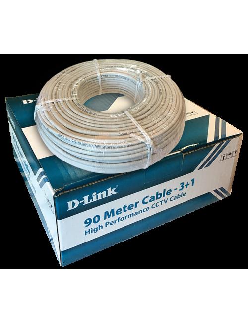 CCTV CABLE 3+1 D LINK (90 METRE)