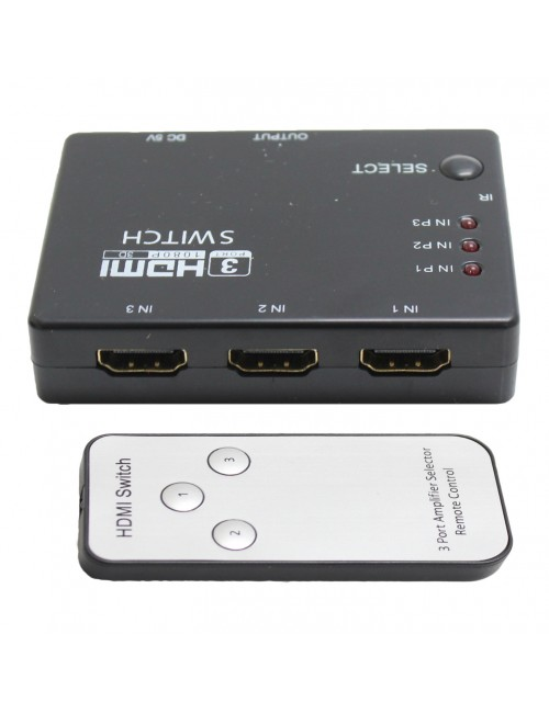 3 PORT HDMI SWITCH WITH REMOTE