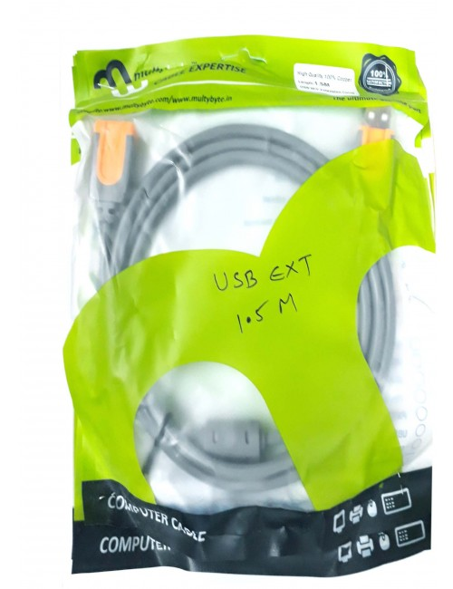 MULTYBYTE USB MALE TO FEMALE EXTENSION 1.5M (HEAVY)
