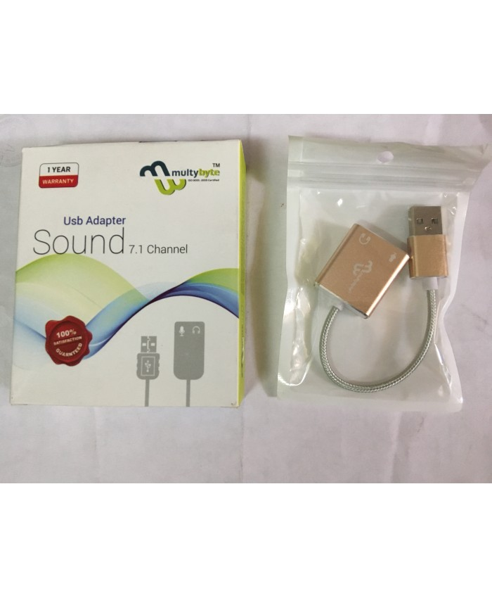 MULTYBYTE USB TO SOUND 7.1 (MALE TO FEMALE) CHANNEL