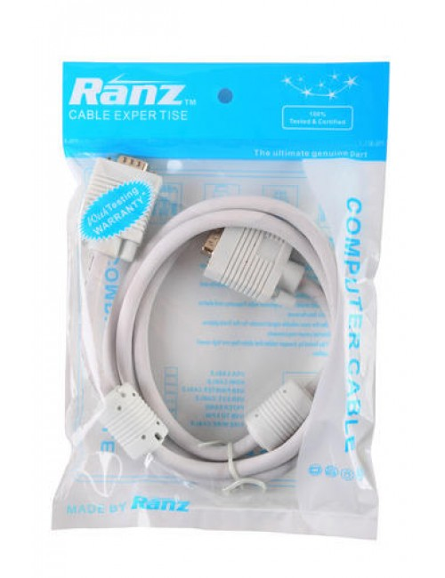 RANZ VGA TO VGA (MALE TO MALE) 1.5M CABLE