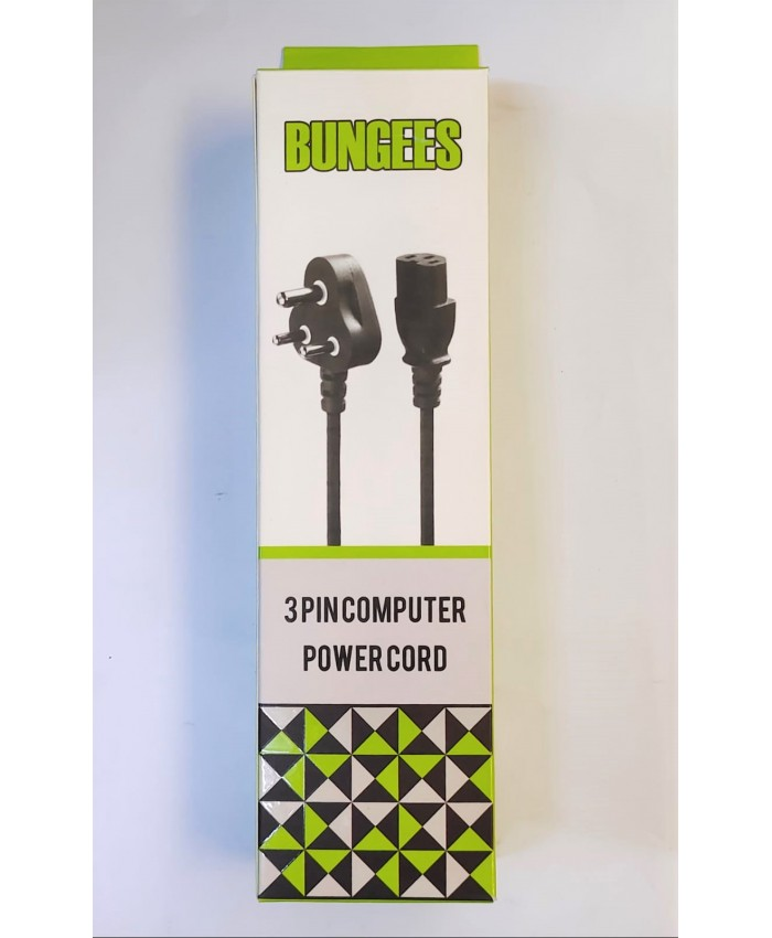 BUNGEES COMPUTER POWER CABLE 1.5M (1 YEAR)