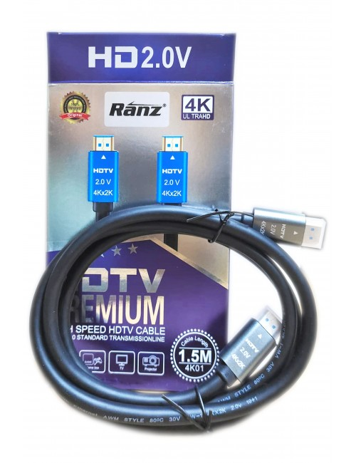 RANZ HDMI TO HDMI (MALE TO MALE) 1.5M 4K2K