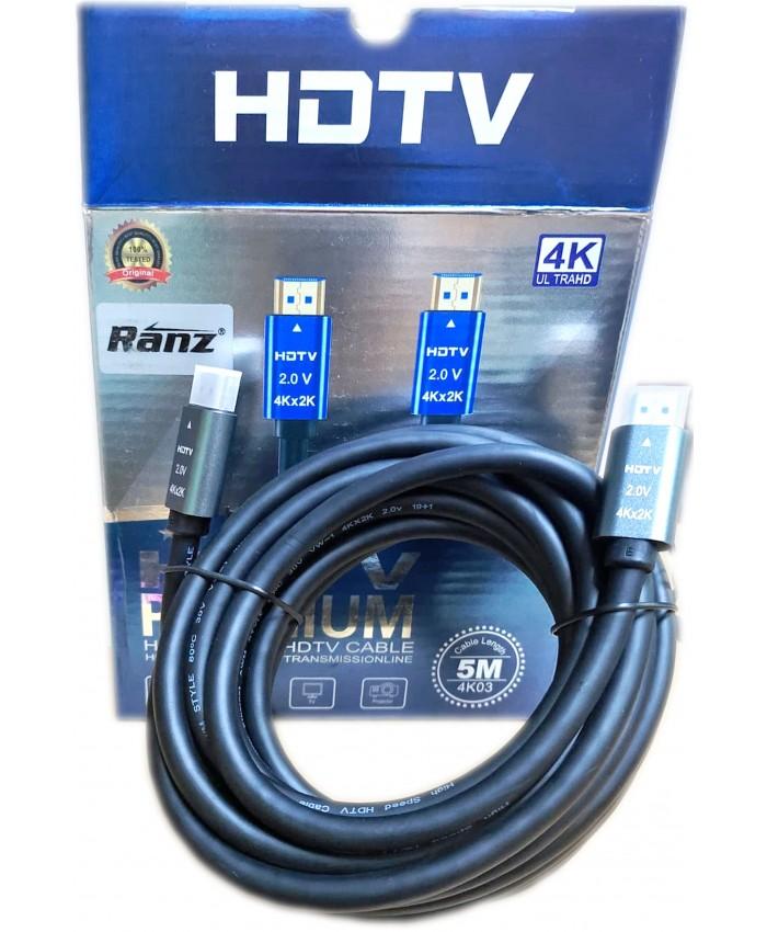 RANZ HDMI TO HDMI (MALE TO MALE) 5M 4K2K