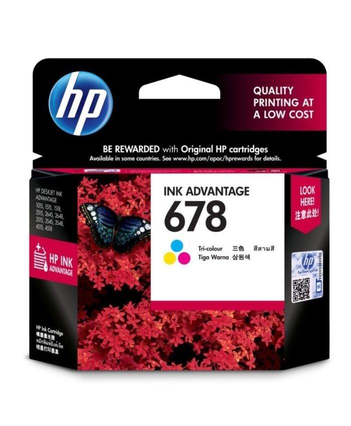 HP INK CARTRIDGE 678 TRI-COLOR (ORIGINAL)