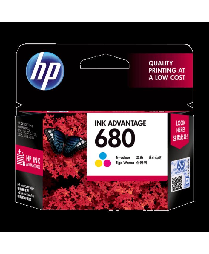 HP INK CARTRIDGE 680 TRI-COLOR (ORIGINAL)