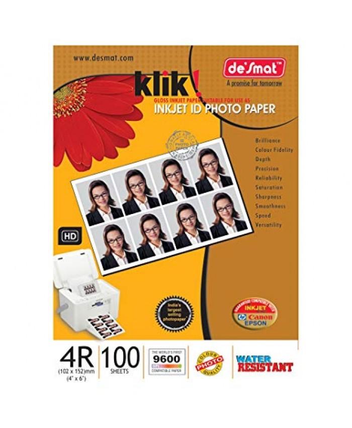 DESMAT INKJET PHOTO PAPER 4 x 6 180GSM 100 SHEETS