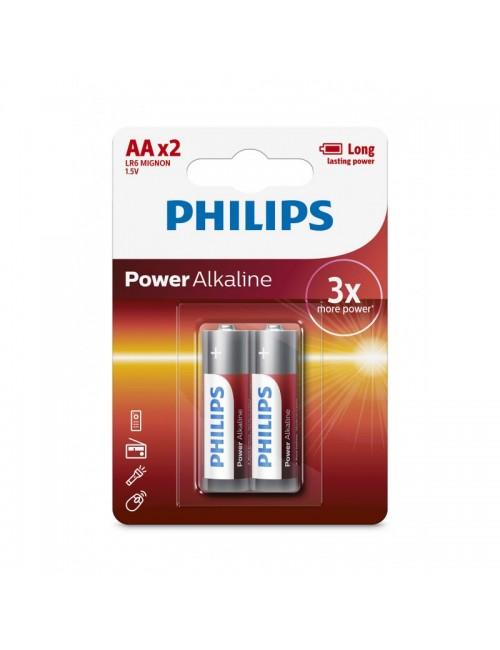 PHILIPS ALKALINE AAx2 BATTERIES (Pack of 2)