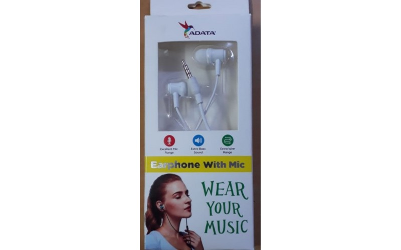 ADATA WIRED EARPHONE WITH MIC (ADEP 10W 20W)