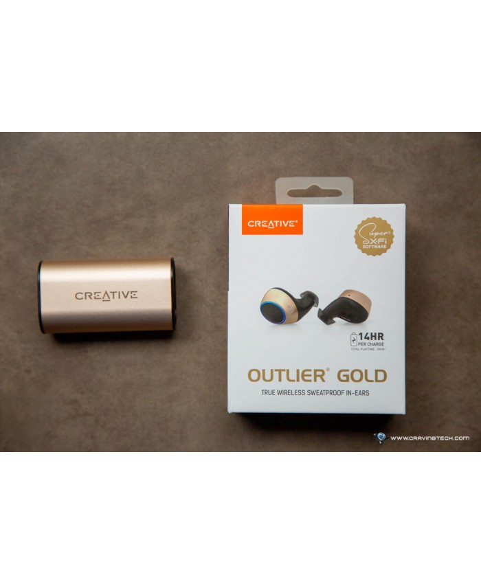 CREATIVE BLUETOOTH EARPHONE IN EAR WITH MIC (OUTLIEGOLD)