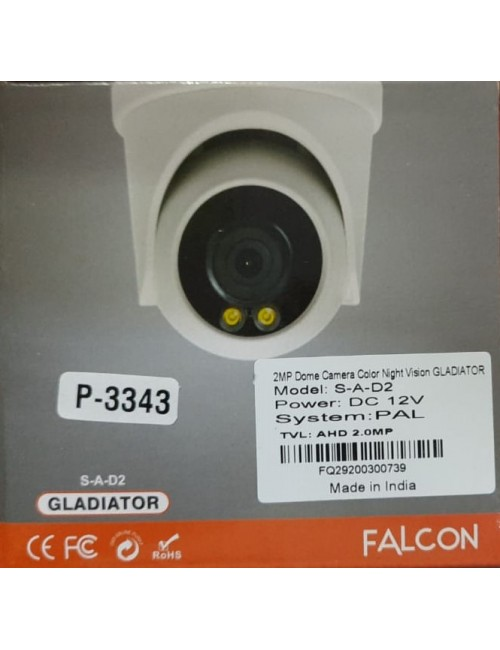 SECUREYE DOME 2MP GLADIATOR 3.6MM (NIGHT COLOR VISION)