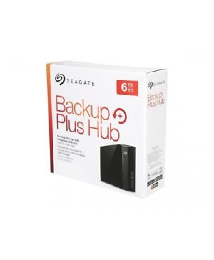 """SEAGATE BACKUP PLUS HUB 6 TB 3.5"""" (WITH ADAPTER)"""