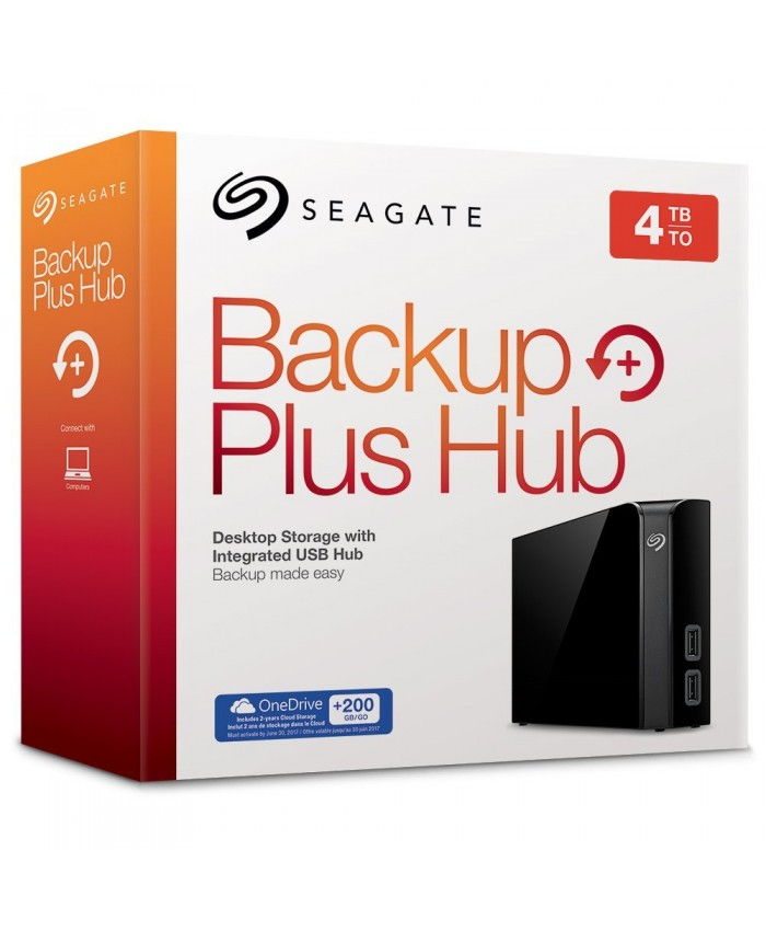 """SEAGATE EXTERNAL HARD DISK 4TB BACKUP PLUS HUB 3.5"""" (WITH ADAPTER)"""