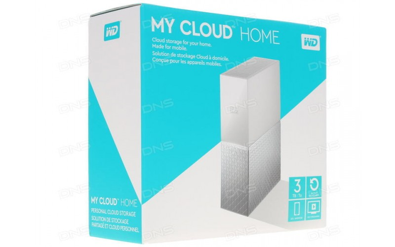 """WD MY CLOUD HOME 3 TB 3.5"""" (WITH ADAPTER)"""