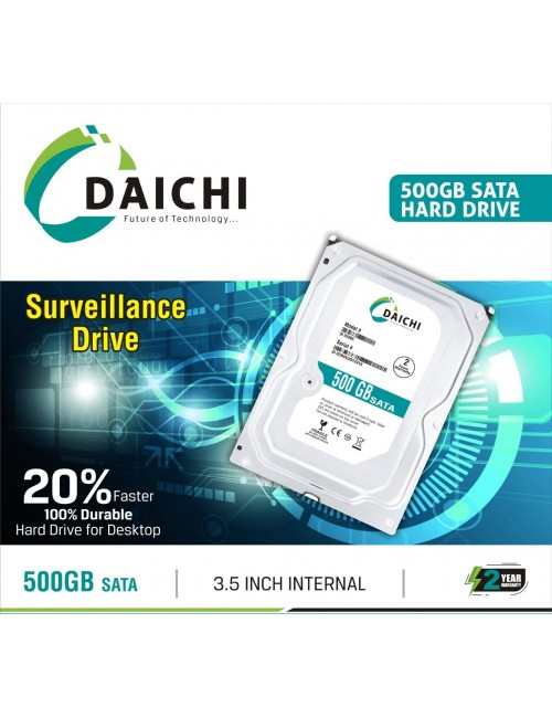 DAICHI PULLOUT INTERNAL HARD DISK 500GB SATA (2 YEAR)