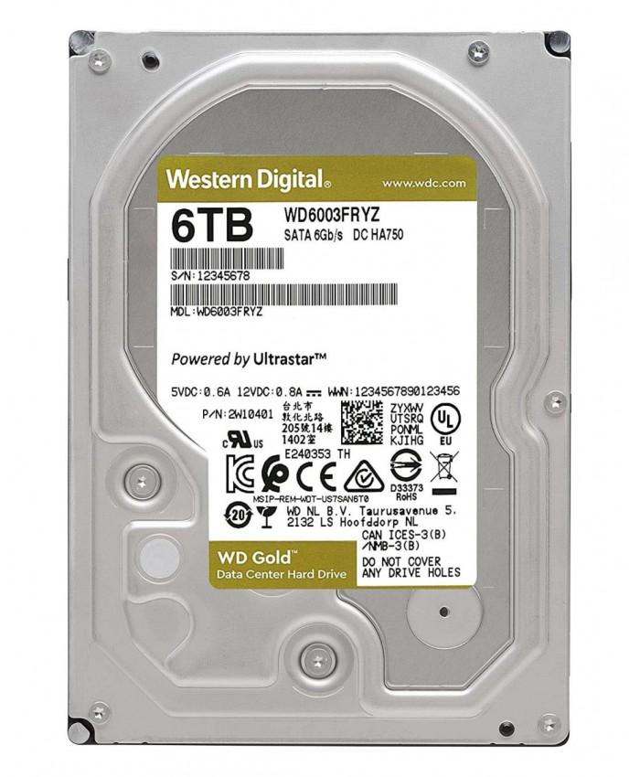 WD INTERNAL HARD DISK 6TB (GOLD)
