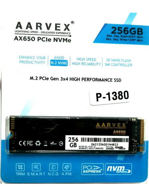 AARVEX SSD 256GB NVME (AX650)