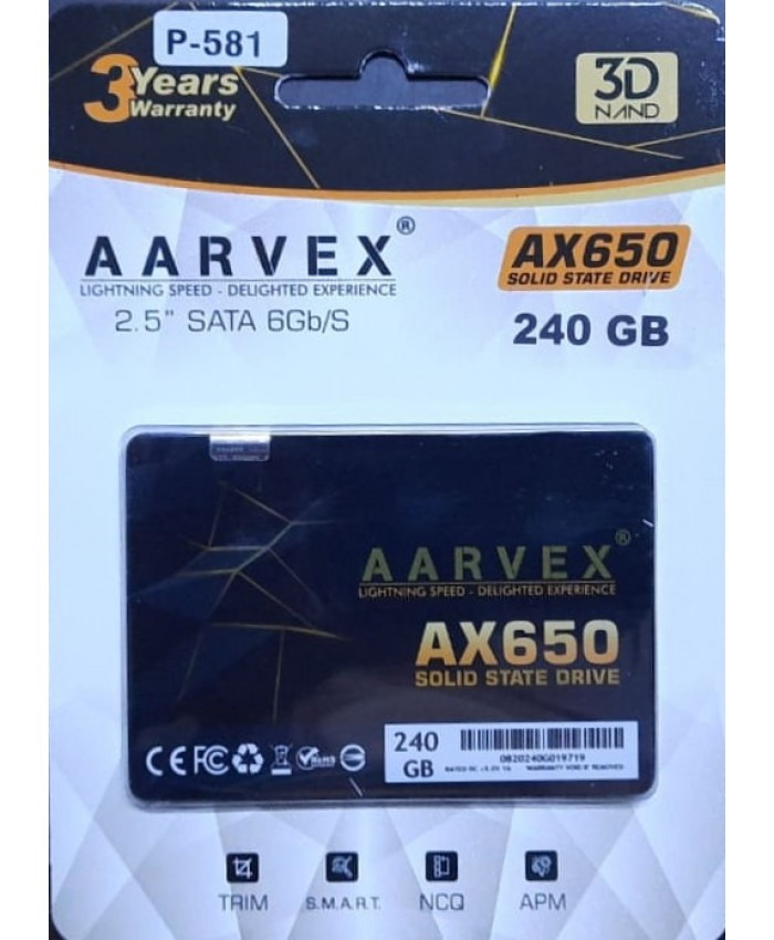 AARVEX SSD 240GB SATA (AX650)