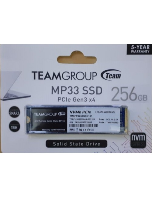 TEAMGROUP SSD 256GB NVME (MP33)