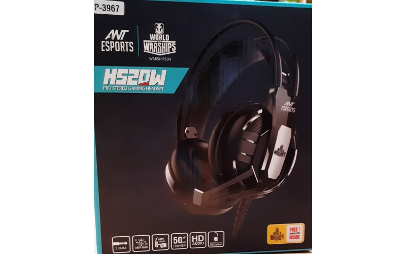 ANT ESPORTS WIRED GAMING HEADSET WITH MIC H520W (DUAL PIN)