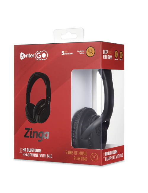 ENTERGO BLUETOOTH HEADPHONE ZINGA