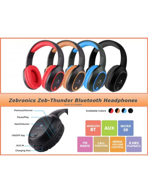 ZEBRONICS BLUETOOTH HEADPHONE ZEB THUNDER