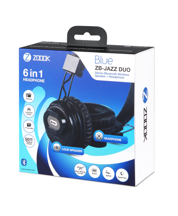 ZOOOK BLUETOOTH HEADPHONE 6 IN 1 WITH SHARING