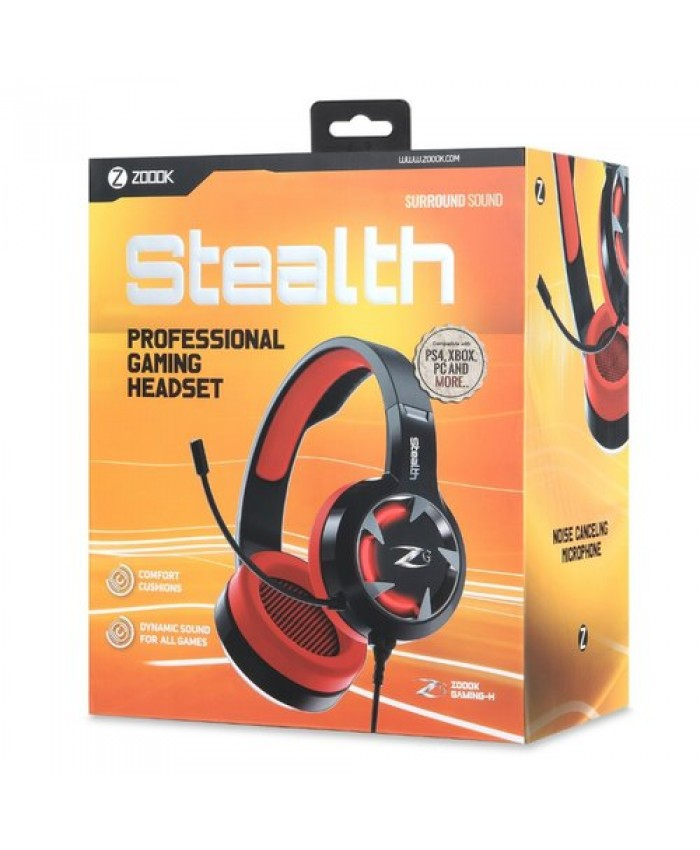 ZOOOK WIRED GAMING HEADPHONE WITH BOTH USB & STEREO JACK (STEALTH)