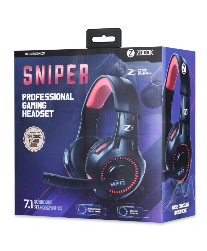 ZOOOK WIRED GAMING HEADSET SNIPER (DUAL PIN)