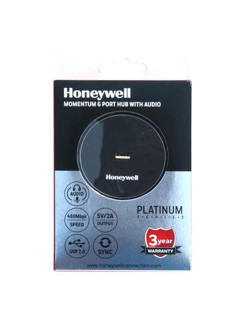 HONEYWELL USB HUB 6 PORT 2.0 MOMENTUM WITH AUDIO