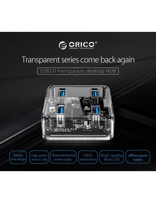 ORICO USB HUB 4 PORT 3.0 (MH4U U3) TRANSPARENT
