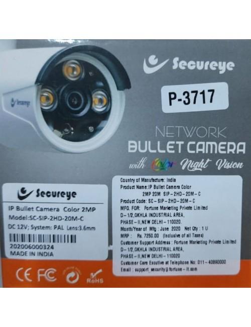 SECUREYE IP BULLET 2MP COLOR NIGHT VISION 3.6MM