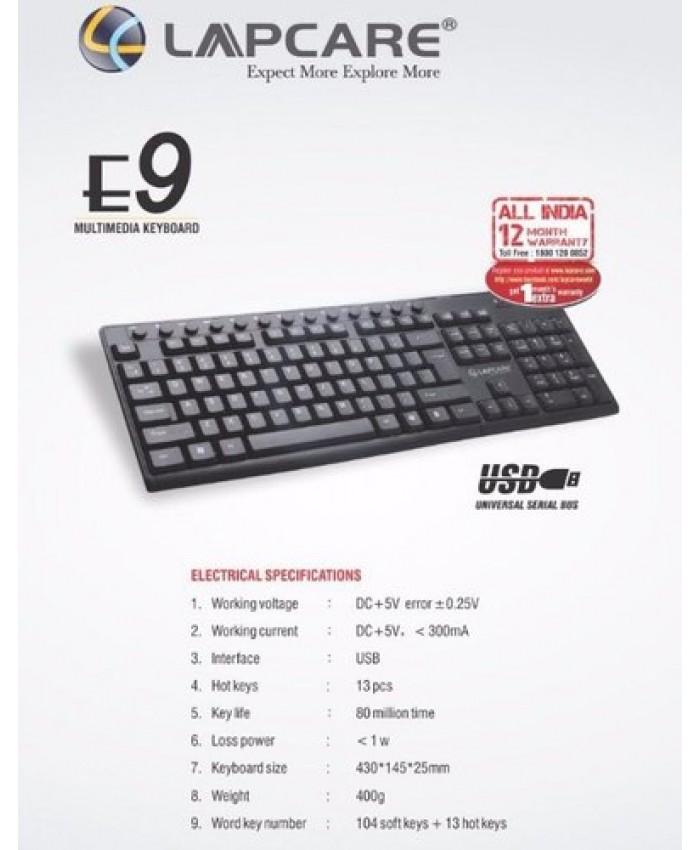 LAPCARE KEYBOARD USB E9