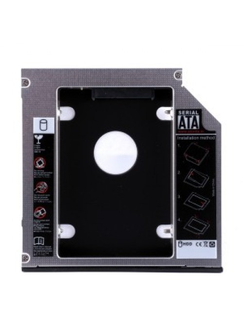 LAPTOP SATA SECOND HDD CADDY (9.5mm) (OEM)