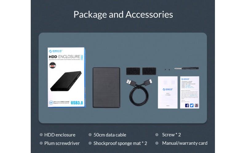 """ORICO SSD HDD SATA CASING 2.5"""" USB 3.0 2169U3"""
