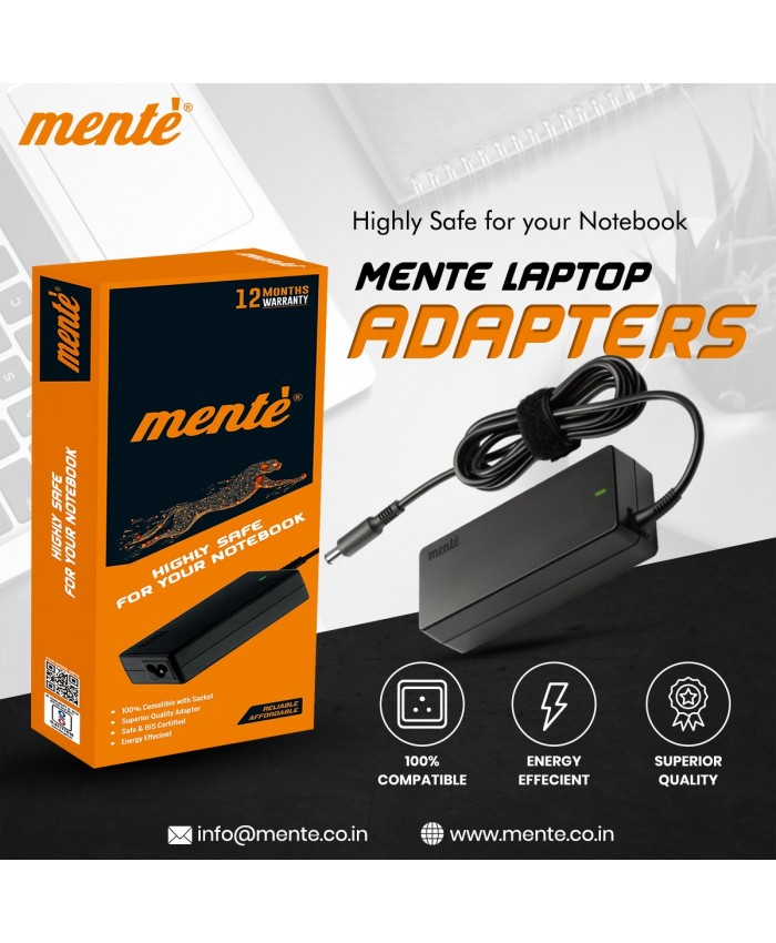 MENTE LAPTOP ADAPTOR FOR HP 65W 18.5V / 3.5A (BIG PIN)