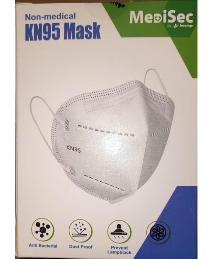 KN95 FACE MASKS MEDISEC NON MEDICAL (PACK OF 20)