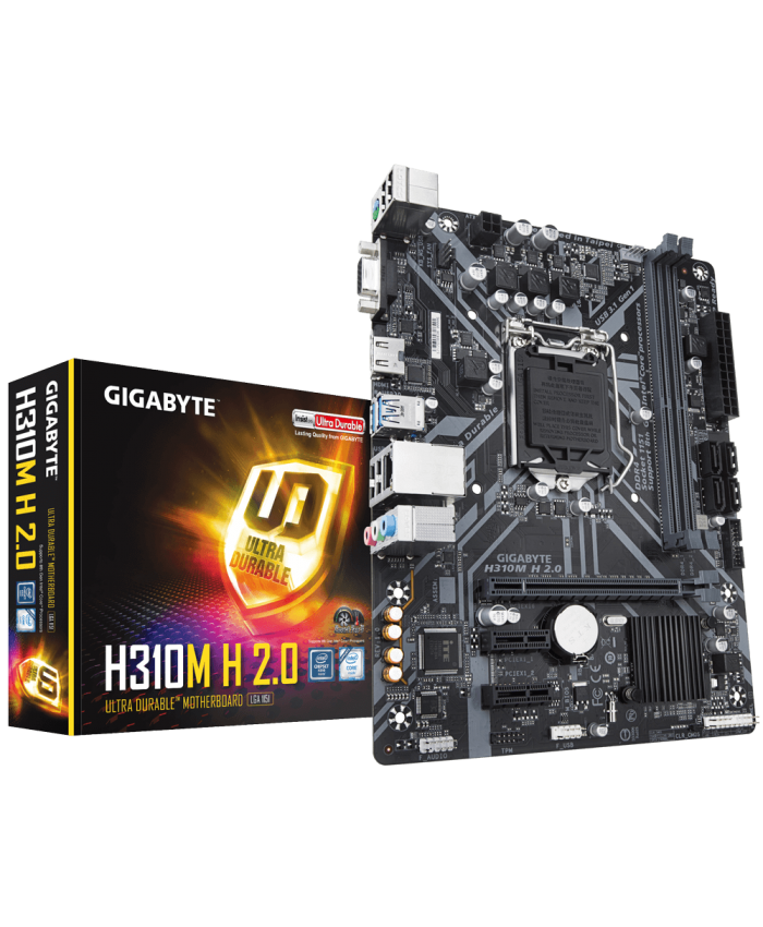 GIGABYTE MOTHERBOARD 310 (H310M H 2.0) 6TH | 7TH | 8TH