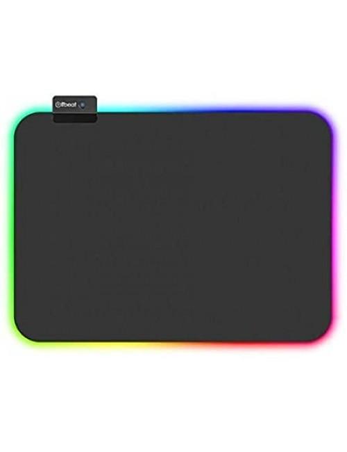 "BLACK CORD RGB GAMING MOUSE PAD  8"" x 10"""