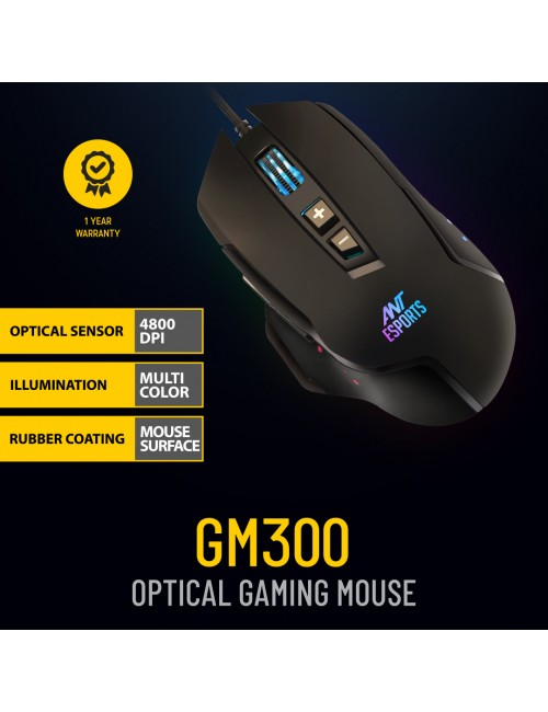 ANT ESPORTS GAMING MOUSE (GM300 RGB) USB