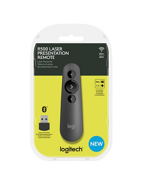 LOGITECH WIRELESS PRESENTER R500 (RED LASER)