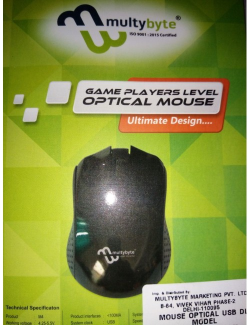 MULTYBYTE OP MOUSE WIRED USB M4
