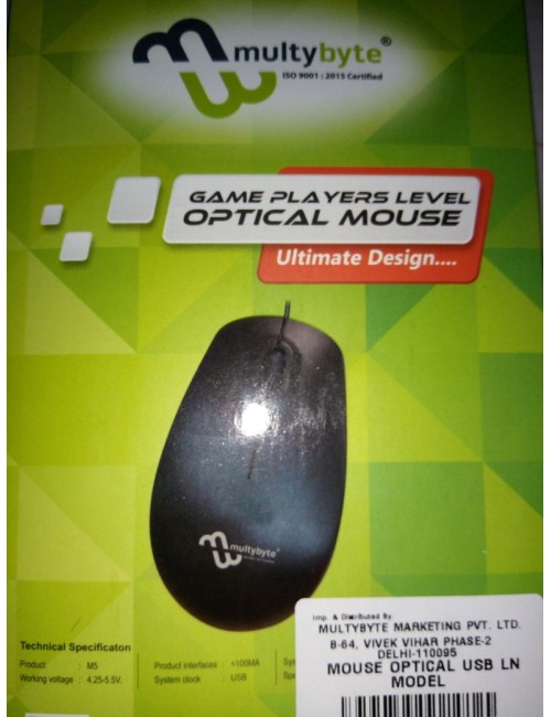 MULTYBYTE OP MOUSE WIRED USB M5