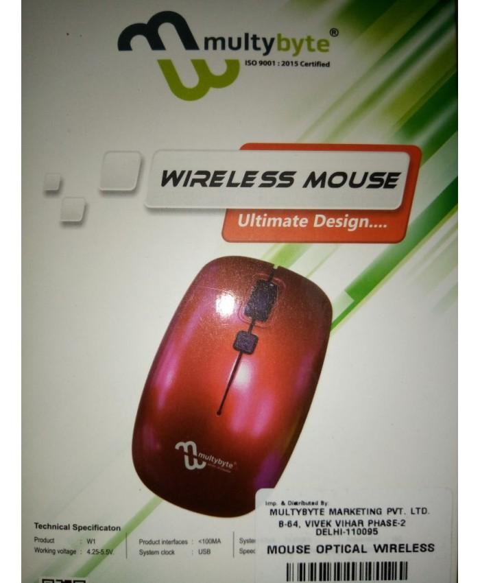 MULTYBYTE WIRELESS MOUSE W1